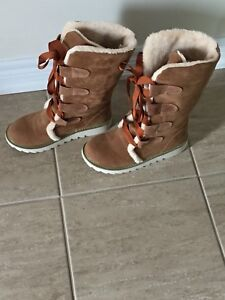 Brand New Woman's Brown Suede Winter Boots