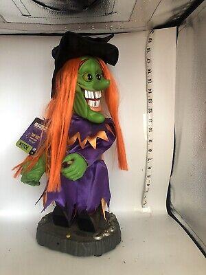 "RARE 18"" Gemmy Freaky Geeks Halloween Motion Singing Witch-Evil Ways 2004"