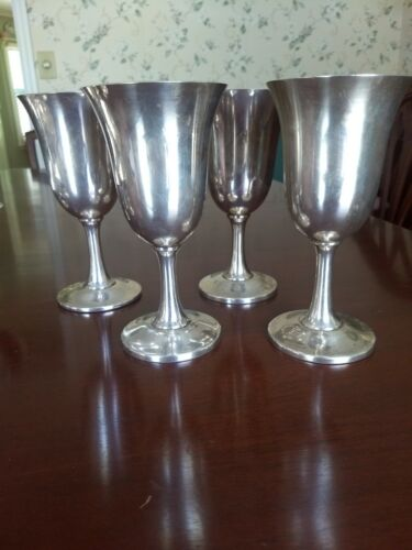 WALLACE Silver Water Goblet #14 - set of 4