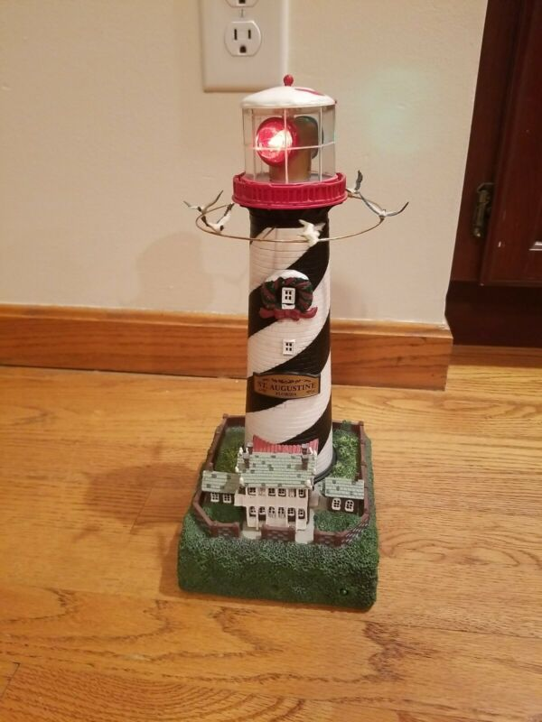 Mr. Christmas Holiday Lighthouse Motion Activated Lights & Sounds St. Augustine
