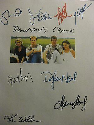 Dawson's Creek Signed Script James Van Der Beek Joshua Jackson Katie Holmes rpnt