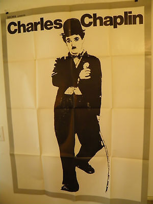 CHARLIE CHAPLIN  Large French 45x62  movie poster 1970