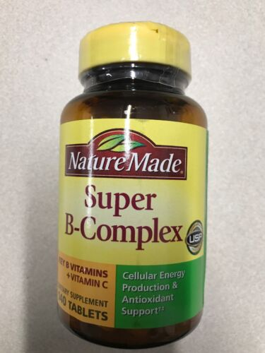 Nature Made Super B Complex + Vitamin C 140 tablets each Fre