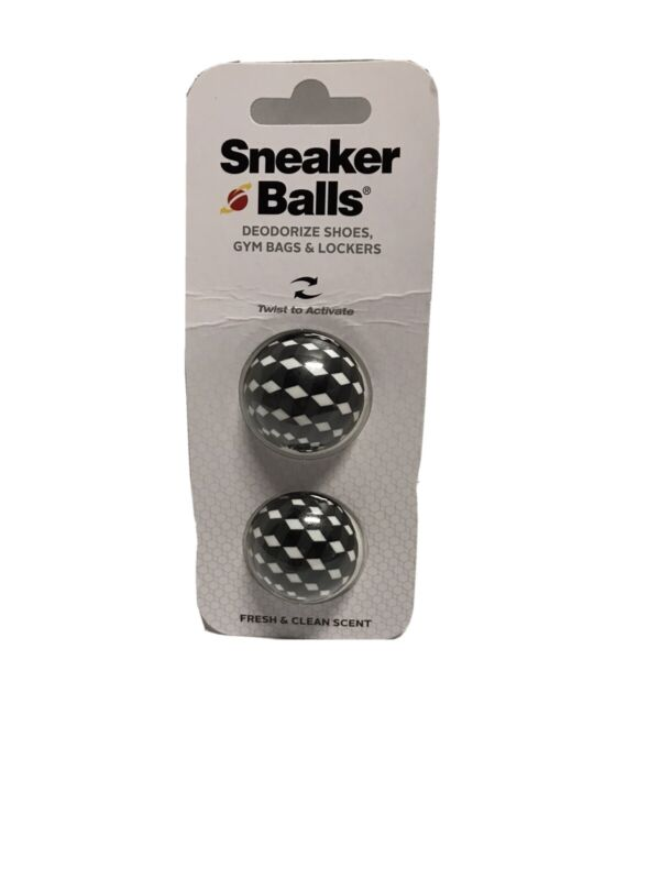 2 Sneaker Balls Fresh Clean Scent Deodorize Shoes, Gym Bags & Lockers