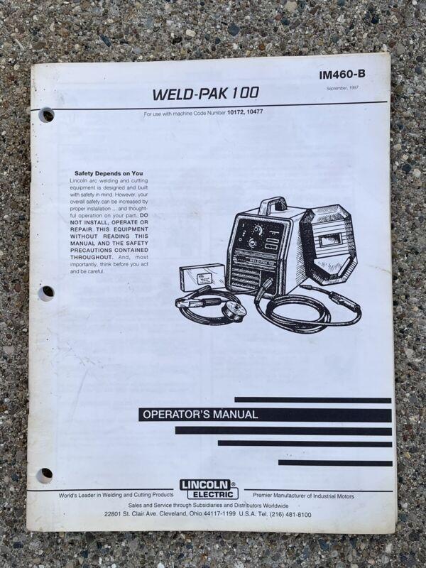 LINCOLN Electric WELD-PAK 100 Operator