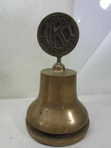 Vintage Bronze-Craft Foundry Brass Kiwanis International Presentation Bell