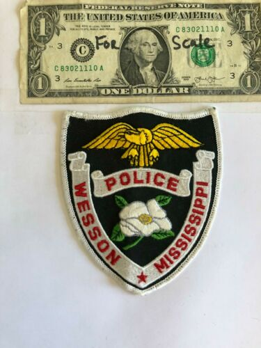 Very Rare Wesson Mississippi Police Patch Un-sewn Great condition