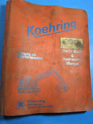 Koehring Bantam 666d Excavator Hoe Parts Operators Maintenance Manual