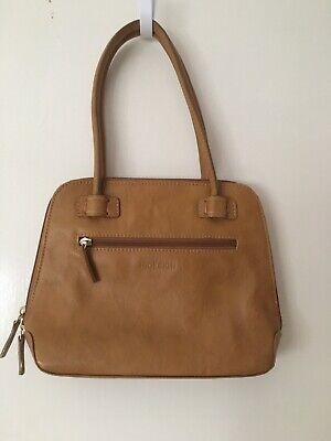 Honey Tan leather handbag Grab Bag by Hidesign