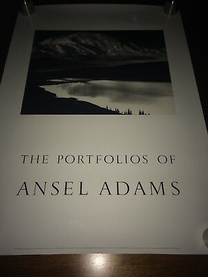 Vintage The Portfolios of Ansel Adams 1985 Wall Poster Print black and white art