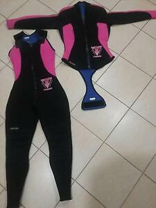 Womens 2 piece diving wet suit Holsworthy Campbelltown Area Preview