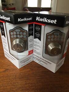 2 x ELECTRONIC KEYPAD DEADBOLT / KEYLESS ENTRY / DOOR SECURITY