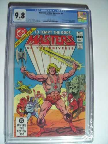 "Masters of the Universe #1 CGC 9.8 NM/MT..1st ""Full He-Man comic""  Dec -1982"