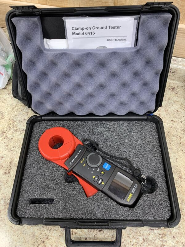 AEMC 6416 Clamp-On Earth Ground Resistance Tester Kit w/ Case