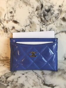 Authentic Chanel Patent Card Holder