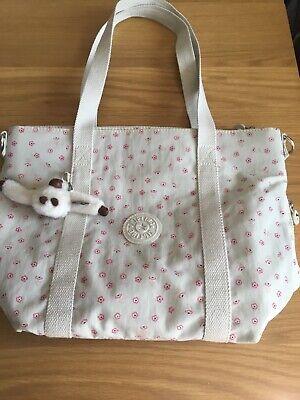 Kipling Small Tote Bag in Pink Floral Print