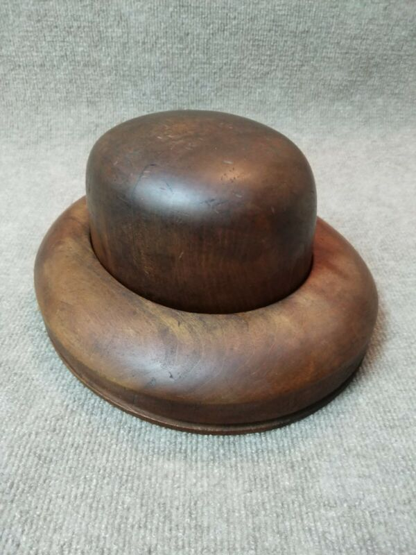 Very Nice Condition - Diamond Branded ANTIQUE MILLINERY WOOD HAT BLOCK MOLD