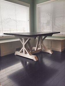 New Rustic Farmhouse Dining Table (Delivery Available)