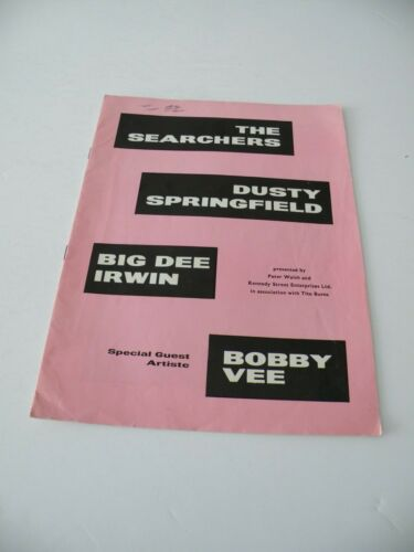 DUSTY SPRINGFIELD 1964 UK CONCERT TOUR PROGRAMME SEARCHERS BOBBY VEE