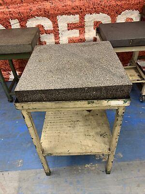 Starrett Tru-stone 24 X 24 X 4 Grade A Granite Surface Plate W Stand