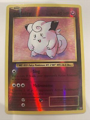 Pokemon Card  CLEFAIRY  REVERSE HOLO RARE  EVOLUTIONS  63//108 ***MINT***