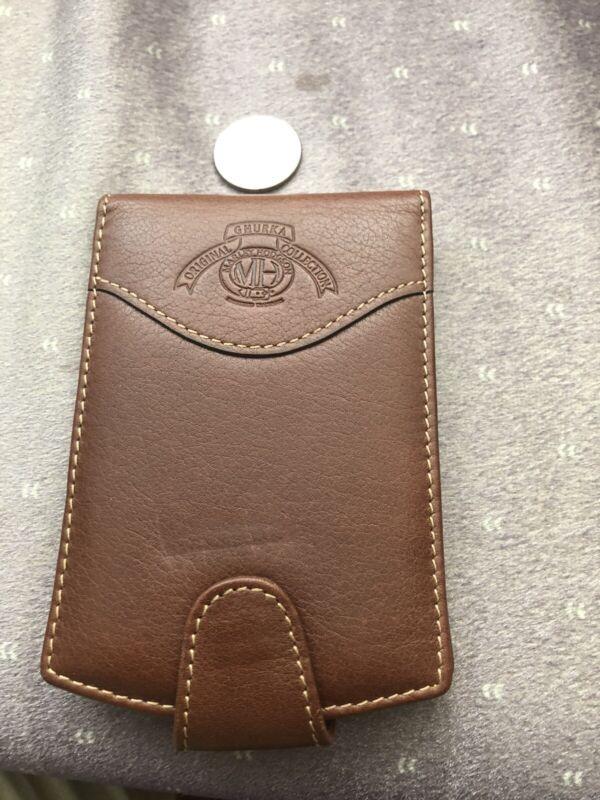 Vintage Ghurka Chestnut PDA Holder