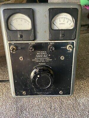General Radio Co.type W10mt 3a Metered Variac Auto Autotransformer