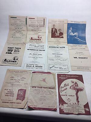 Vintage Collection Of Metropolitan Theatre Theater Programs Seattle 1950S