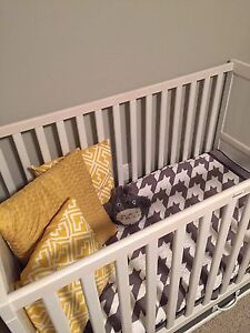 IKEA crib, mattress and Pull out drawer