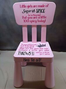 Girl / Boy Custom Made Time Out Chair. Perfect For Toddlers At Home Or  Daycare