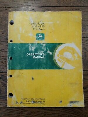 John Deere 4555 4755 4955 Tractor Operators Owners Manual