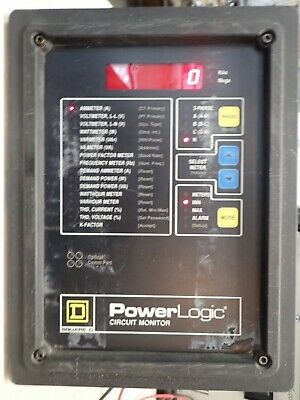 Square D 3020 Cm-2450 Power Logic Circuit Monitor Rs 485 3 Phase