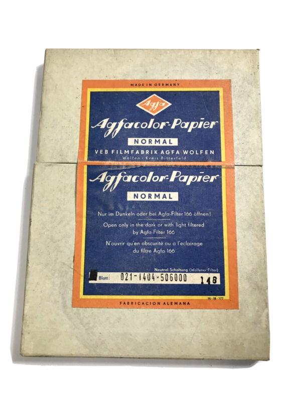 Agfacolor Papier AGFA Photographic Paper 25 13x18cm Vintage Germany ~ SEALED