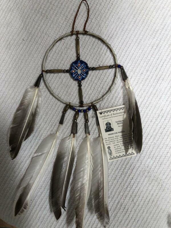 """Navajo made 2"""" Medicine Wheel"""