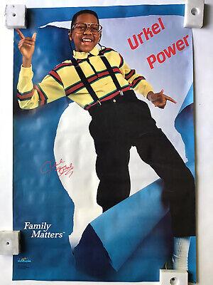 Steve Urkell Family Matters TV Show Urkel Power Poster