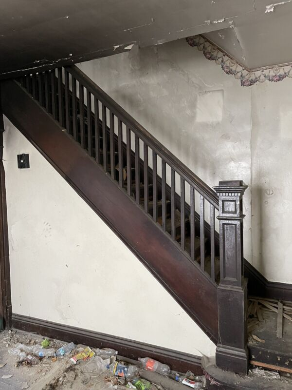 Antique Staircase Railing