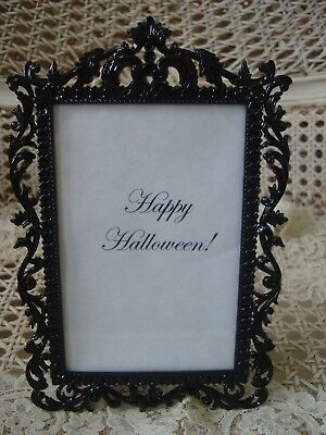 FANCY BLACK METAL PICTURE FRAME FOR HALLOWEEN DECORATING](Pic For Halloween)
