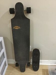 Longboard and mini skateboard