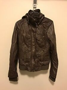 Brown faux Leather Jacket (size small)