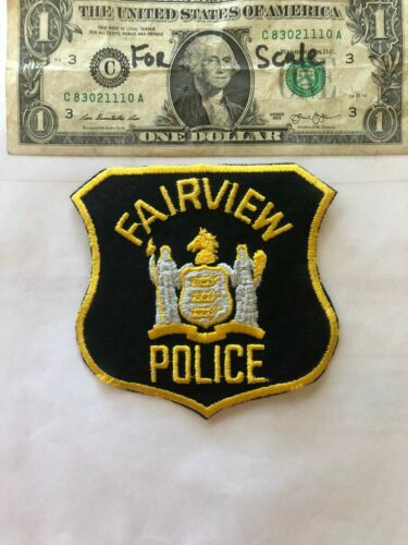 Fairview New Jersey Police Patch  un-sewn in Great Shape