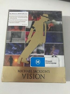Michael Jacksons Vision (DVD, 2010, 3-Disc Set, Deluxe Vision)sealed  new