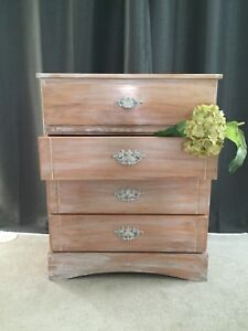 Rustic Shabby Solid Wood Dresser-Perfect for Children's Room