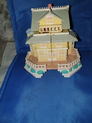 Polly Pocket Bluebird, Clubhouse Pollyville Mansion Yellow ,Vintage
