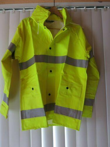 Tingley Rain Jacket J53122 Small High Visibility Comfort Brite New
