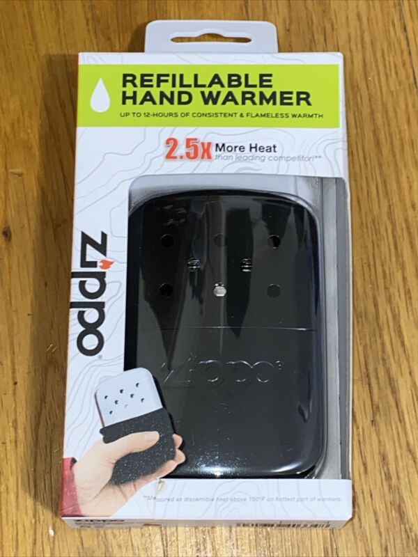 New Zippo 12-Hour Black Matte Refillable Hand Warmer, 40334