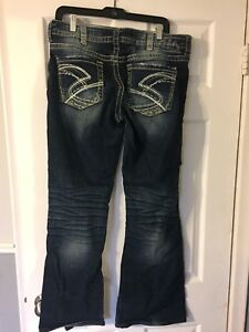 Silver jeans.   33/32.  34/33
