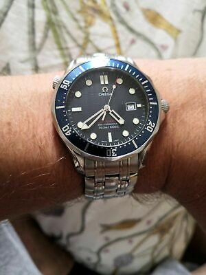 OMEGA Seamaster 41mm Full Size Quartz Blue Wave 300m - Boxed with Papers