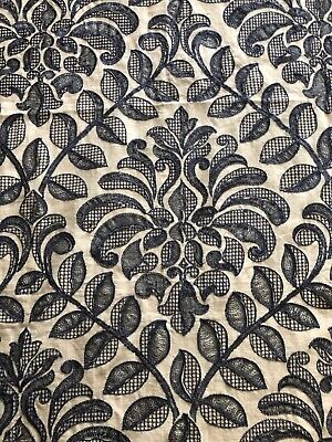 Rare Unused Fabric Remnant Piece of GP & J Baker 'Wilton' Embroidered Fabric
