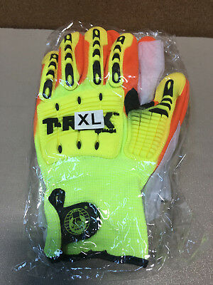 MAGID SAFETY T-REX TRX540 XL CUT LEVEL 4 IMPACT GLOVES Hi Viz XL (1) Pair