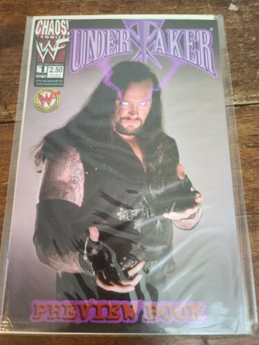 Undertaker Comic Preview Book - Chaos Comics - WWF